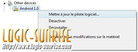 installation du driver android 1.0